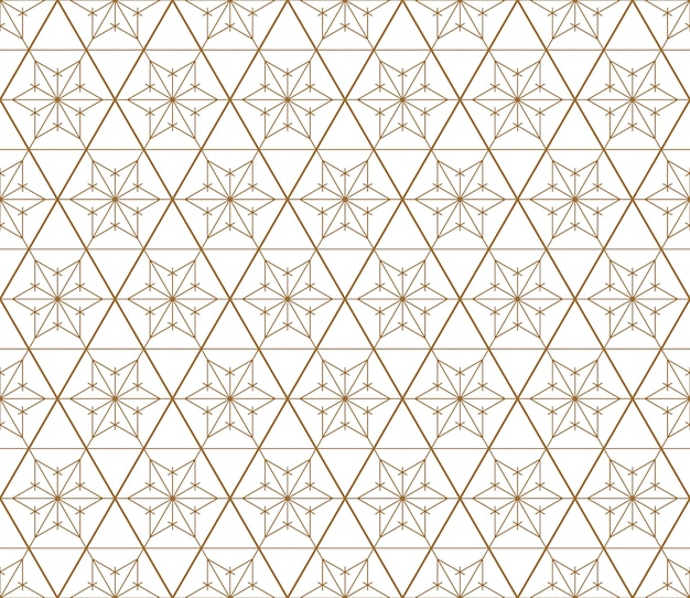 Бесшовные геометрический рисунок на основе японского стиля kumiko.