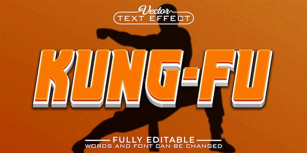 Kung- fu editable text effect template
