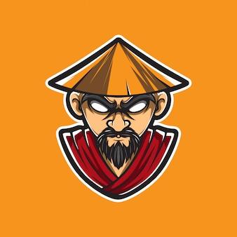 Kung fu man vector logo print