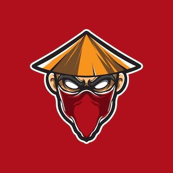 Kung fu man vector logo