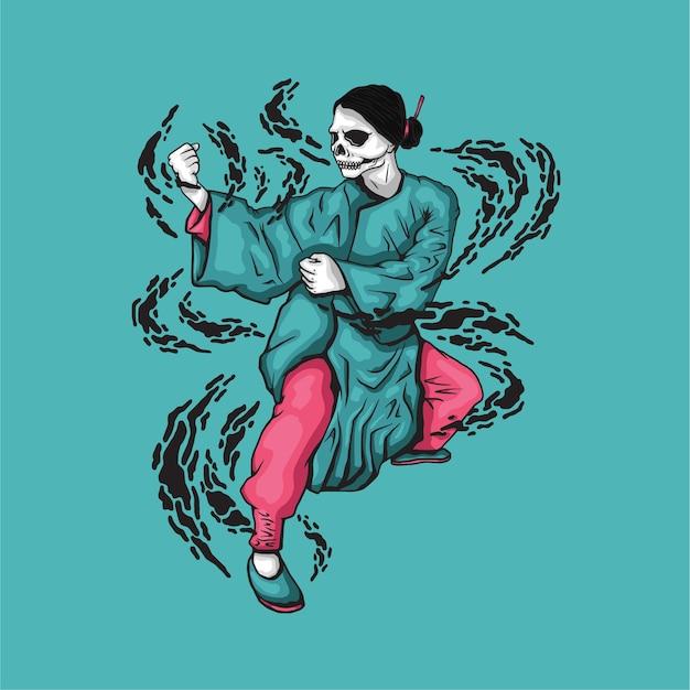 Kungfu skull girl