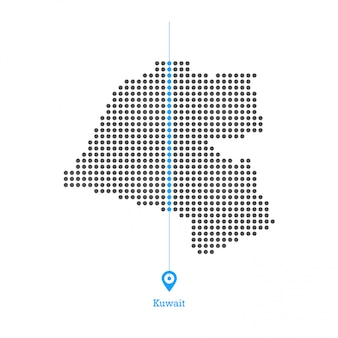 Kuwait doted map design vector