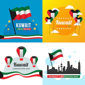 Kuwait liberation day illustration