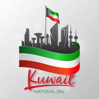 Kuwait national day in flat design