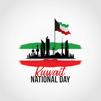 Kuwait national day Premium Vector