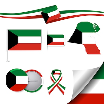 Collezione di elementi rappresentativi di kuwait
