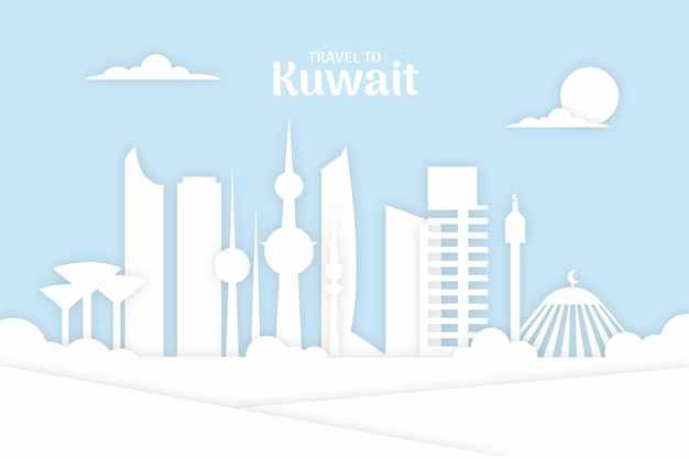 Кувейтский горизонт в бумажном стиле