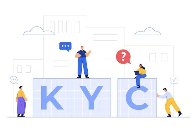 Kyc는 인증 과정 인 know your customer를 의미합니다.
