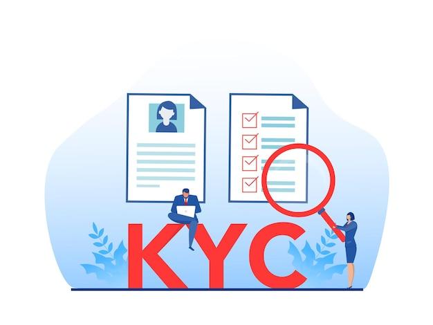 Kyc или знай своего клиента иллюстрация