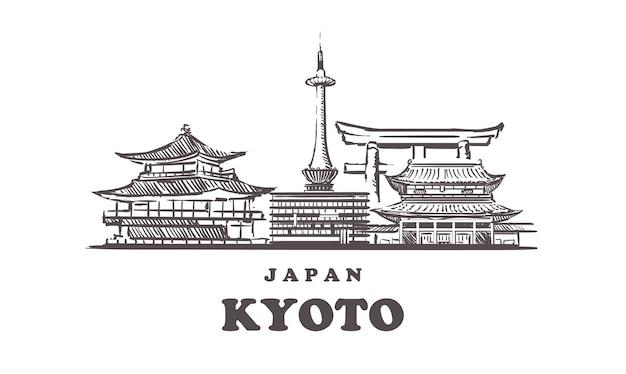 京都の街並み、日本