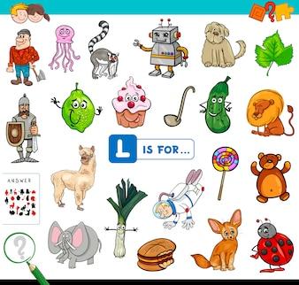 L для образовательной игры для детей