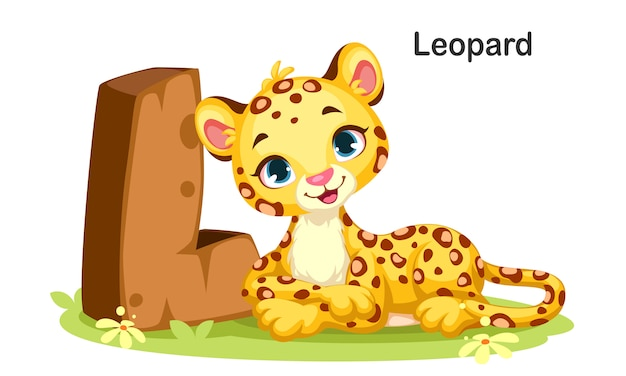 L for leopard