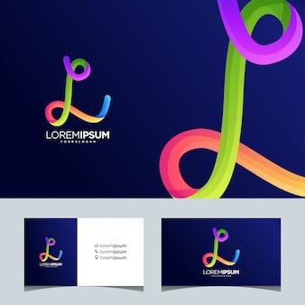 L логотип технологий веб-знак