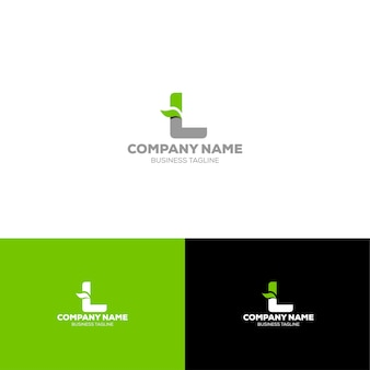 Письмо l органический логотип