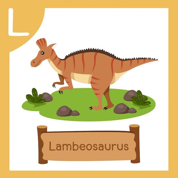 恐竜ランベオサウルスのlのイラストレーター
