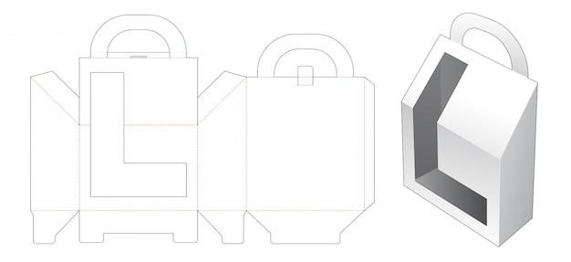 L字型ウィンドウダイカットテンプレート付きキャリングボックス