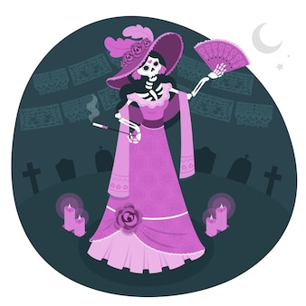 La catrina concept illustration