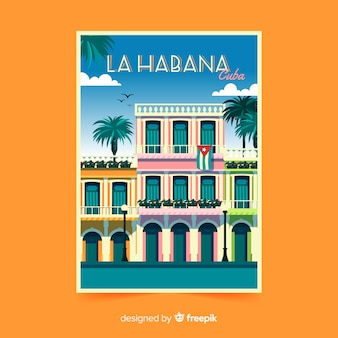 La habana retro promotional flyer