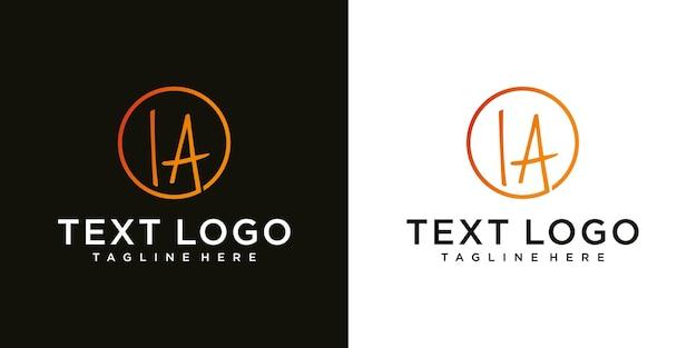 ラ文字書道最小限のモノグラムエンブレムスタイルベクトルロゴデザイン