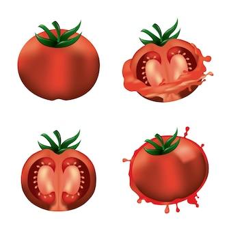 라 토마 티나 네 토마토 스플래시 야채
