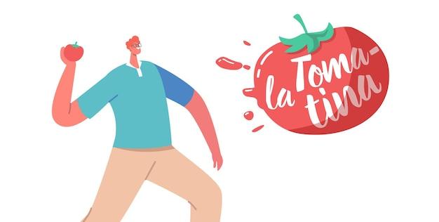 La tomatina holiday, tomato festival concept