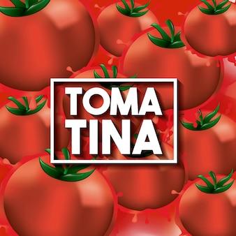 라 토마 티나 스페인 축제 축하 토마토 배경