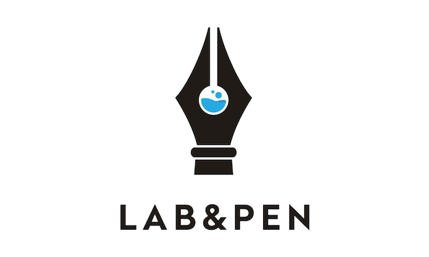 실험실 및 펜 로고 디자인