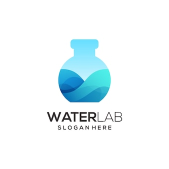 Lab bottle logo colorful gradient abstract