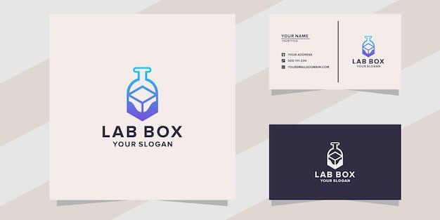 Шаблон логотипа лабораторной коробки
