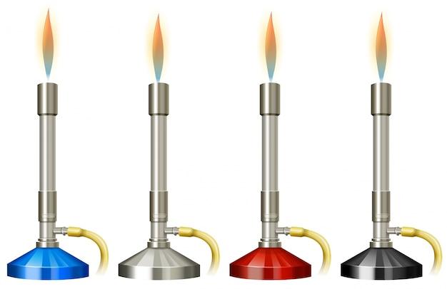 Лабораторная горелка с пламенем