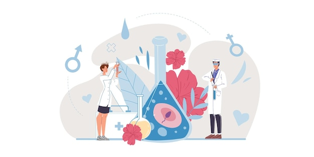 Lab coats with medical devices and symbols medic team