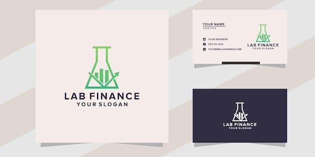Lab finance logo template