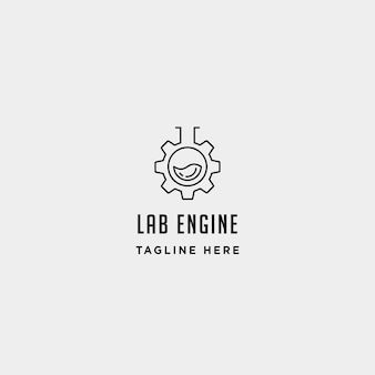 Lab gear logo vector laboratory industry icon symbol sign illustration isolated