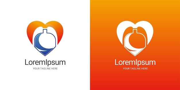 Lab heart logo template