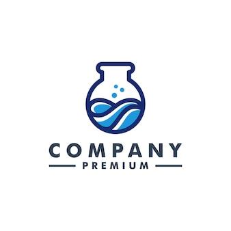 Lab logo science vector icon
