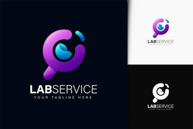 그라데이션이 있는 랩 서비스 로고 디자인
