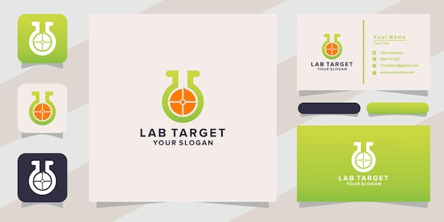 Lab target logo and business card