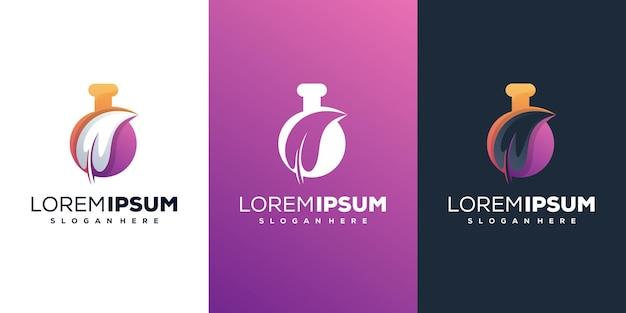 Lab with leafe modern logo design