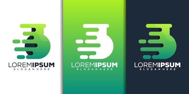 Lab with tech logo design