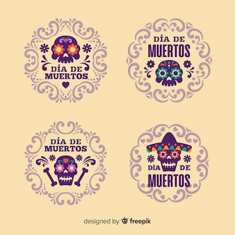 Label collection for day of the dead event