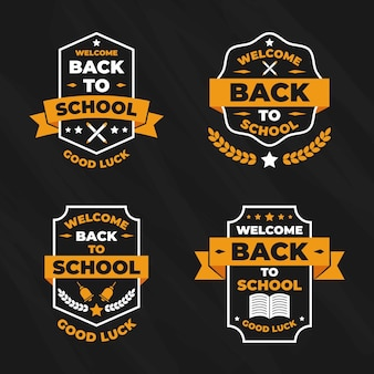 Label collection with back to school