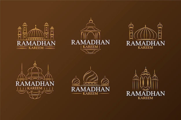Label collection with ramadan concept