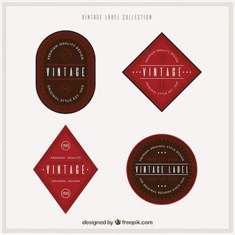 빈티지 스타일의 라벨 컬렉션