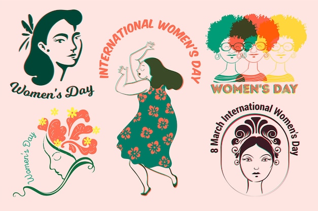 Label collection with womens day theme