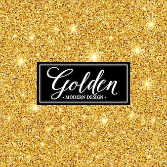 Label frame silhouette on the gold glitter background