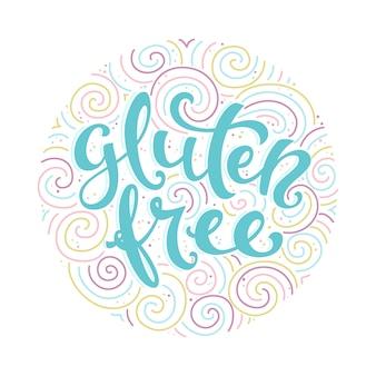 Label gluten free lettering
