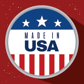 Label of made in usa