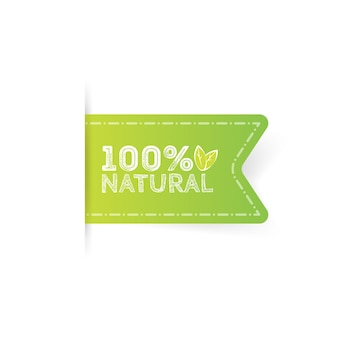 레이블 천연 제품, 유기농, 건강 식품. 벡터 배지