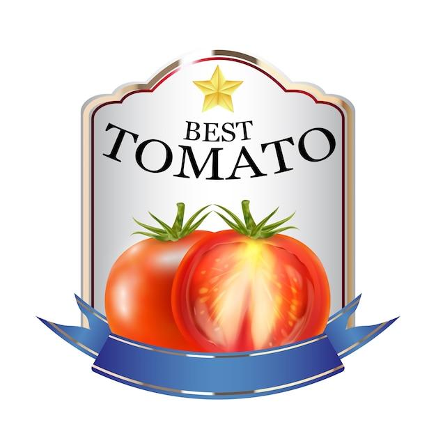赤トマトケチャップのブランドロゴのラベル