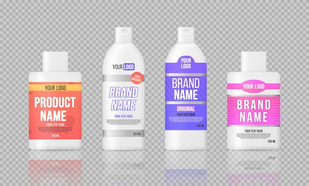 Этикетка пластиковых бутылок, дизайн шаблона упаковки.